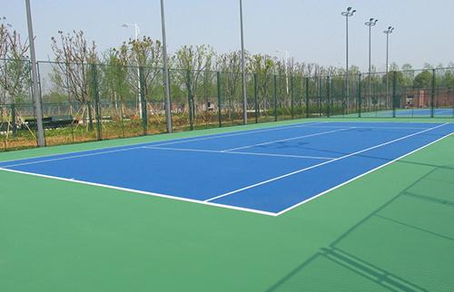 桂电弹性丙烯酸网球场