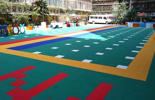 芳婷幼儿园悬浮拼装地板