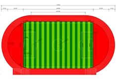 标准足球场规格图