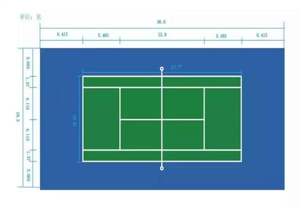网球场效果及规划图