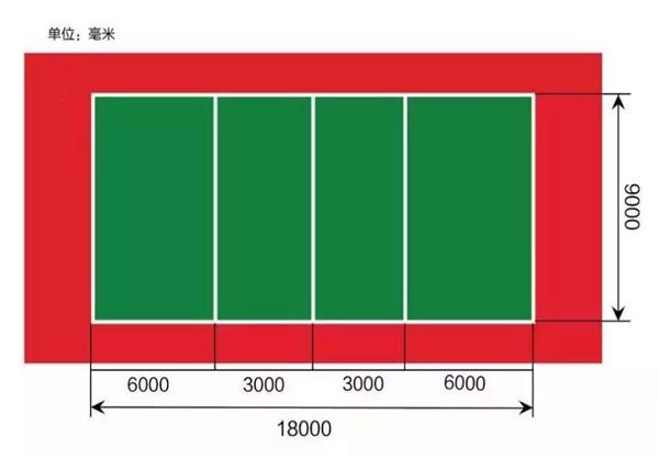 排球场效果及规划图